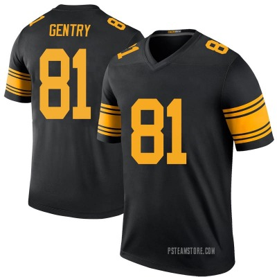 Men's Zach Gentry Pittsburgh Steelers Color Rush Jersey - Black Legend